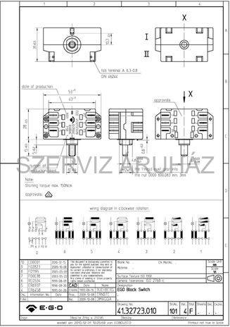 FOKOZATKAPCSOLÓ/SELECTOR SWITCH WHIRLPOOL 4081281728067