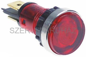 Kontroll lámpa piros 12 mm 230V