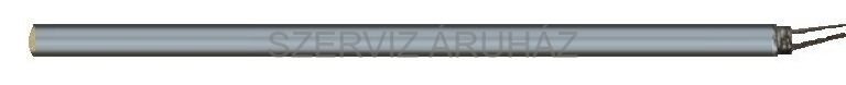 Lapos egyenes fűtőszál 400V 500W 11,5mm x 6mm  h:2900mm
