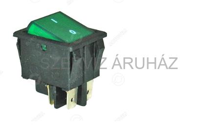 Zöld billenő kapcsoló 16A